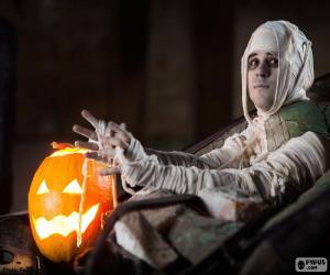 Puzle Dýně a mumie, Halloween