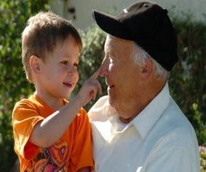 Puzle Dědeček s vnukem