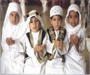 Puzle Děti dělat Du'a, prosby v islámu