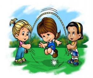 Puzle Děti si hrají švihadlo