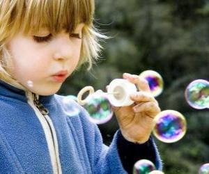Puzle Dětské hrací foukat mýdlové bubliny