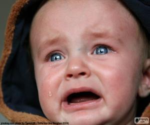 Puzle Dětské, slzy