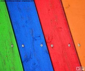 Puzle Dřevo různých barev