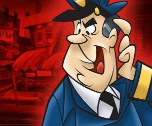 Puzle Důstojník Dibble, policista, který se stará alej Top Cat a jeho gang