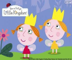 Puzle Daisy a Poppy, dvojče víly, sestřičky Holly