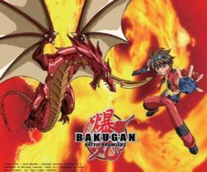Puzle Dan Kuso a jeho Bakugan Pyrus Drago opatrovníka