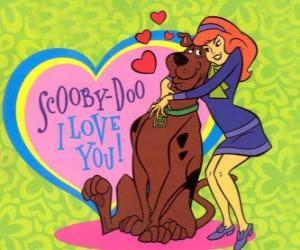 Puzle Daphne všeobjímající Scooby Doo