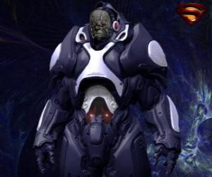 Puzle Darkseid, tyran vzdáleného světa Apokolips tzv. kosmické bohy.