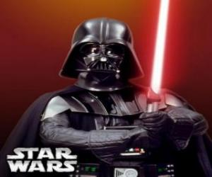 Puzle Darth Vader se svým světelným mečem