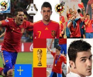 Puzle David Villa (Španělsko je cíl) španělského národního týmu vpřed