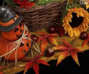 Puzle Dekorace pro Halloween