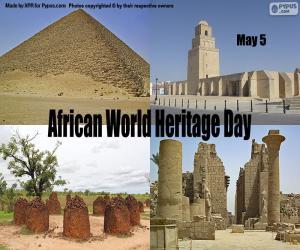 Puzle Den afrického světového dědictví