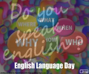 Puzle Den anglického jazyka