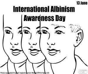 Puzle Den na mezinárodní Albinismus