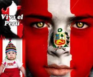 Puzle Den nezávislosti Peru, 28. července. To připomíná Deklaraci nezávislosti ze Španělska v roce 1821