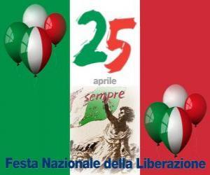 Puzle Den osvobození, italský národní svátek slaví 25. dubna