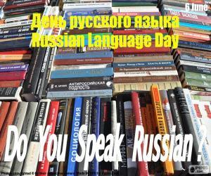 Puzle Den ruského jazyka