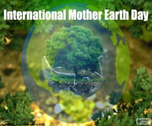Puzle Den země mezinárodní matka