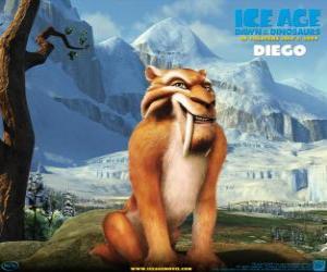 Puzle Diego, šavle-tygr zubu
