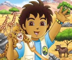 Puzle Diego a Mládě Jaguár pomáhat zvířatům v nebezpečí v sérii Go, Diego, Go!