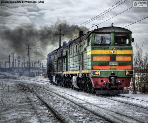 Puzle Dieselová lokomotiva