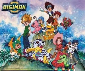 Puzle Digimon Postavy
