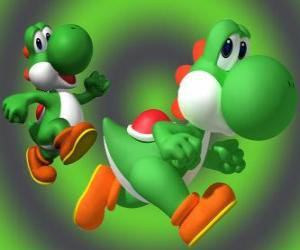 Puzle Dinosaur Yoshi je Mario nejlepší přítel