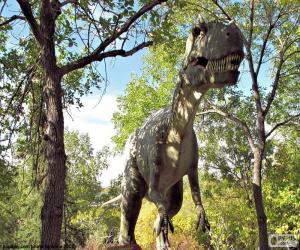 Puzle Dinosaurus v lese