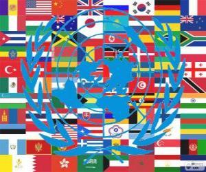Puzle Dne 24. října je Den Spojených národů, Den OSN, připomínající jeho založení v roce 1945