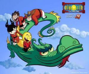 Puzle Dojo Kanojo Cho, drak Xiaolin bojovníků může změnit jeho tvar