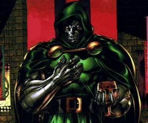 Puzle Doktor Doom je supervillain a nepřítel Fantastická čtyřka