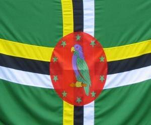 Puzle Dominická vlajka