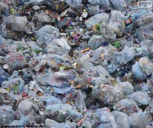 Puzle Domovní odpad