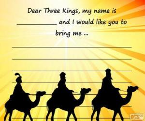 Puzle Dopis do tří králů
