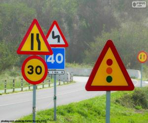 Puzle Dopravní značení