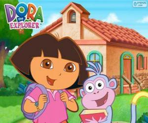 Puzle Dora a Boots jít do školy