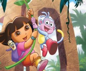 Puzle Dora a Boty v jednom z jeho dobrodružství