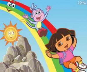 Puzle Dora, Boty a duha