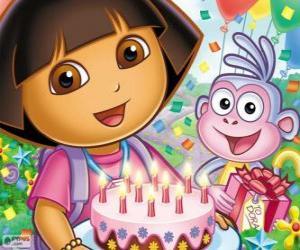 Puzle Dora Průzkumník slaví výročí