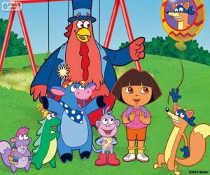 Puzle Dora s kamarády