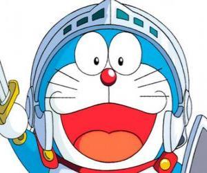 Puzle Doraemon v jednom z jeho dobrodružství