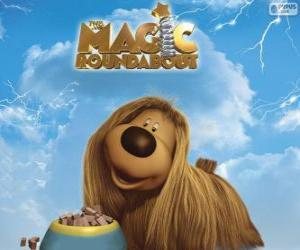 Puzle Dougal, dlouhosrstý pes od Magic Roundabout