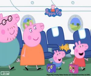 Puzle Dovolenou rodina Peppa Pig