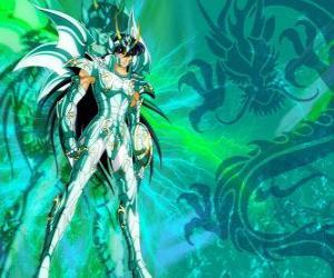 Puzle Dragon Shiryu, jeden z pěti hrdinů Saint Seiya. Bronzová rytíř souhvězdí draka