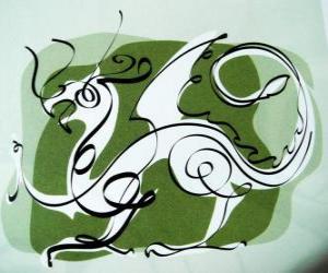 Puzle Drak, znamení Drak, Rok draka. Páté zvíře čínského zvěrokruhu