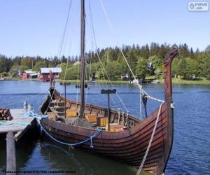 Puzle Drakkar nebo Viking Ship