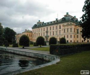 Puzle Drottningholmský palác Drottningholm, Švédsko