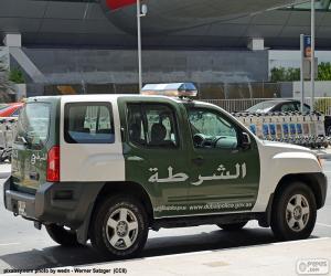 Puzle Dubaj policejní auto