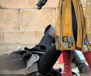 Puzle Duel mezi středověkých rytířů