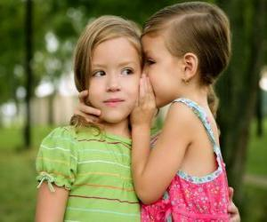 Puzle Dvě dívky dělat důvěrné